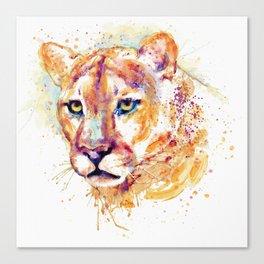 Cougar Head Canvas Print