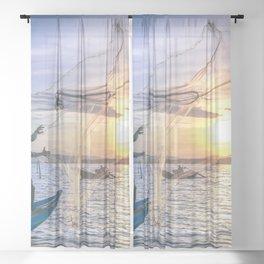 Cast the Net Sheer Curtain