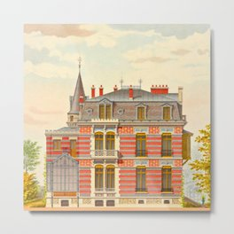 Brick constructions; ordinary brick from a decorative point of view - J. Lacroux and C. Détain - 187 Metal Print