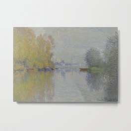 Autumn on the Seine, Argenteuil Metal Print