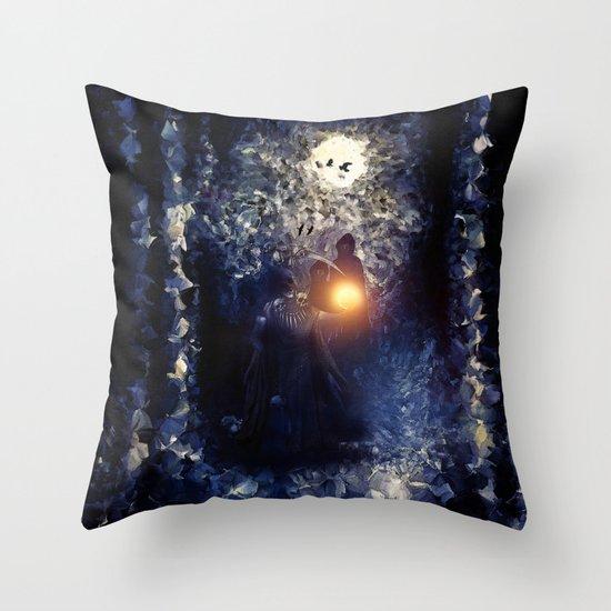 The Necromancer, by Paul Kimble & Viviana Gonzalez Throw Pillow