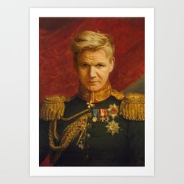 Gordon Ramsay Portrait Art Print