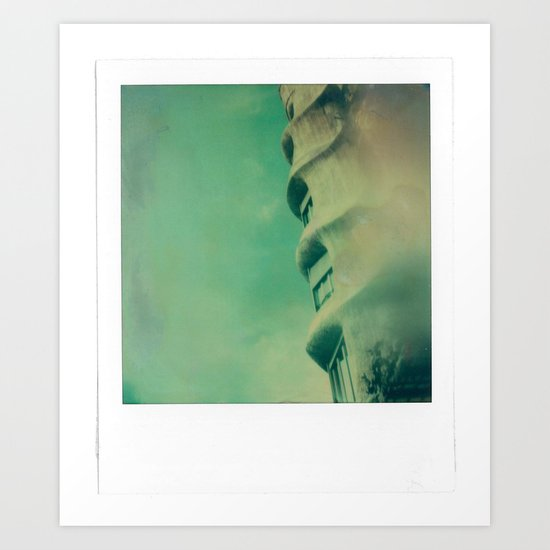 Gaudi and Barcelona Art Print