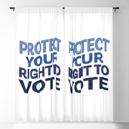 Protect Your Right to Vote Blackout Curtain