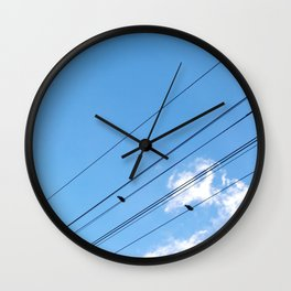 Bird on a wire no.1 Wall Clock