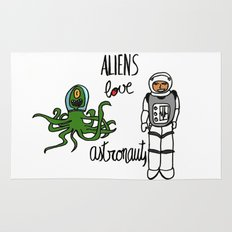 Aliens love astronauts Rug