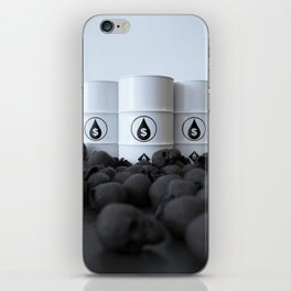 The price of oil iPhone Skin