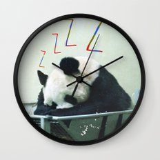 Sleepy Panda Wall Clock