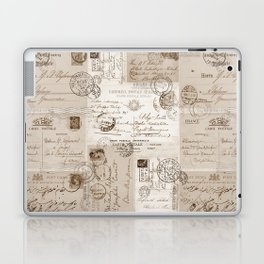 Old Letters Vintage Collage Laptop & iPad Skin