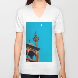 Jama Masjid´s dome in Delhi Unisex V-Neck