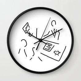 bank shop assistant bank clerk Wall Clock