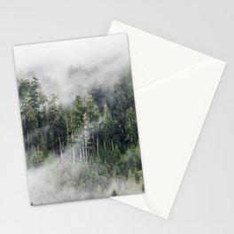 Mist on the Mountain, Lake Crescent, Washington Stationery Cards