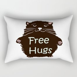 Free hugs. Cute kitty Rectangular Pillow