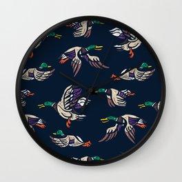 Male Mallard ducks Wall Clock