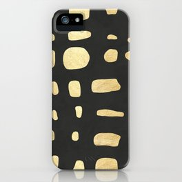 Golden expressionist painting I iPhone Case