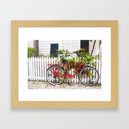 Key West Bike Framed Art Print