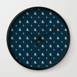 Sailor Sailing Sailboat Sailor Hobby Pattern Wall Clock