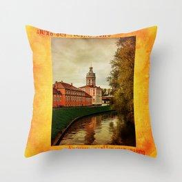 Alexander Nevsky Lavra Throw Pillow