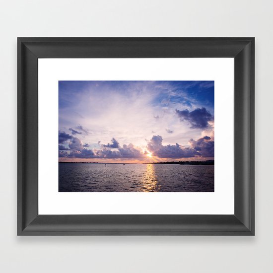 Purple Sunset Framed Art Print