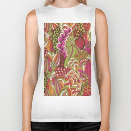 Paisly Pop Tangle #4 Biker Tank