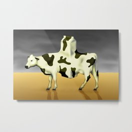 Cow Product Metal Print