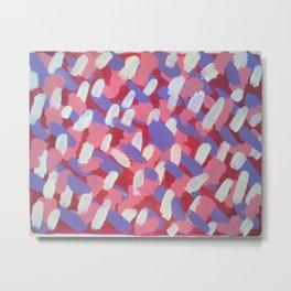 Pink and Purple Brushstrokes Art Metal Print