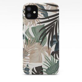 Tropical Jungle Leaves Pattern #13 (Fall Colors) #tropical #decor #art #society6 iPhone Case