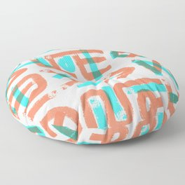 Abstract Graffiti Floor Pillow
