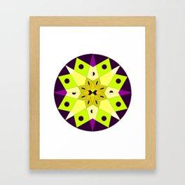 Circle Star Mandala #1 Framed Art Print