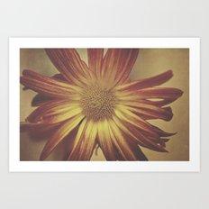 Textured flower Art Print