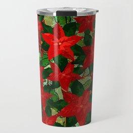 Christmas Design Poinsettias Travel Mug