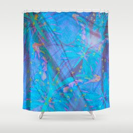 Butterflies On A Turquoise Background #decor #society6 Shower Curtain
