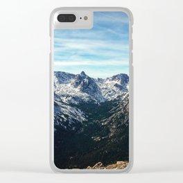 Mountain Range Clear iPhone Case