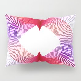 Geometric abstract pink hearth Pillow Sham
