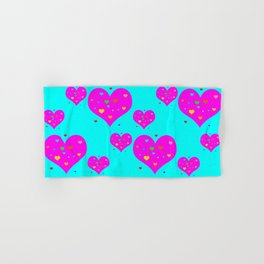 Hearts Hand & Bath Towel