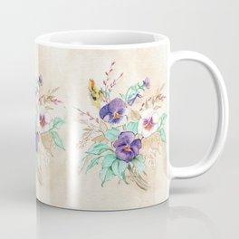 Pansies Bouquet Coffee Mug