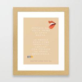 Think Twice (Italian) Framed Art Print