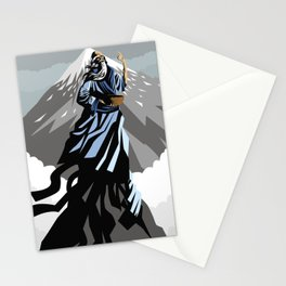great chinese philosopher thinker on moutain peak Stationery Cards