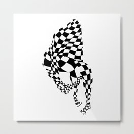 Chequed Out Metal Print