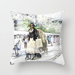 Love One Another - Steampunk Angel Throw Pillow