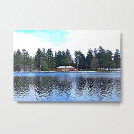 Wapato Lake Winter Metal Print