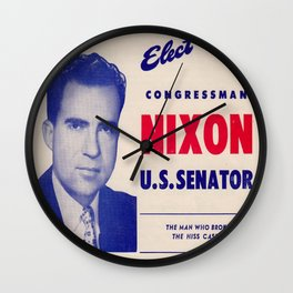 Vintage poster - Richard Nixon for Senate Wall Clock