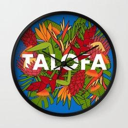 UrbanNesian Talofa Floral Design Wall Clock
