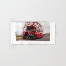 Old Red London Bus Vintage transport Hand & Bath Towel
