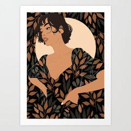 Fall Lover (Black) Art Print