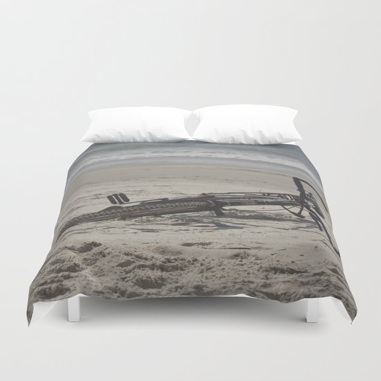 Lost Bicycle Duvet Cover