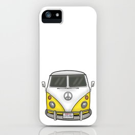 Yellow Camper Van - Hippie Bus iPhone Case