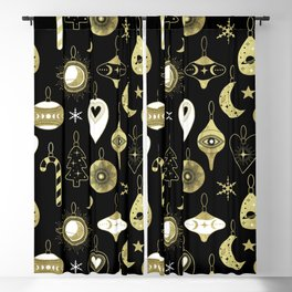 Christmas Moon Ornaments Blackout Curtain