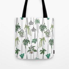 hanging pots pattern Tote Bag