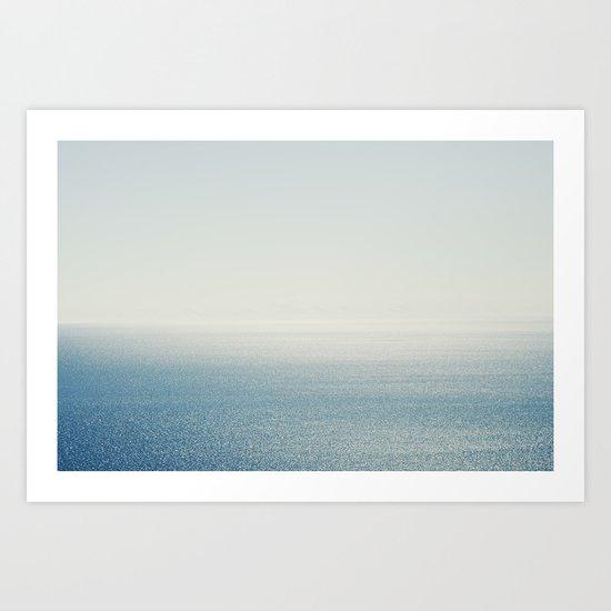 Ocean Horizon Diamonds Art Print